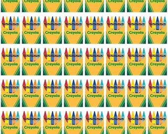 Colorfully Creative Crayola Color Me Box White by Riley Blake Designs - Crayons Quilting Cotton Fabric - choose your cut