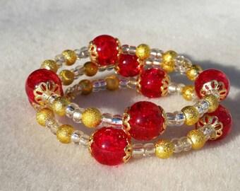 Sparkle and Shine Memory Wire Bracelet
