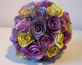 Wedding Bouquet // Paper Bouquet Custom Handmade Watercolour Rose Bridal Bouquet // Paper Rose Bouquet // Paper Flowers // Bridal Bouquet