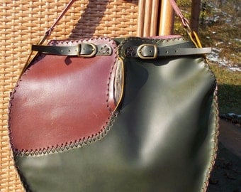 "Handmade Leather Bag ""Conifers"""