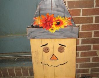 Fall Decor Wooden Scarecrow Reversible Scarecrow/Santa Large Scarecrow Primitive Scarecrow Fall Halloween Thanksgiving Autumn Christmas