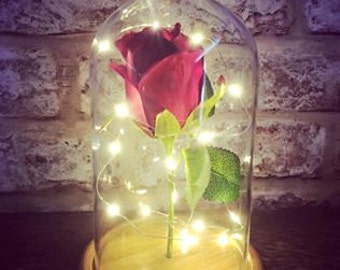 Enchanted Rose Light Up Flower Centre Piece Dressing Table