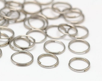 500 Pcs 8 mm Stainless Steel Split Rings | 0145