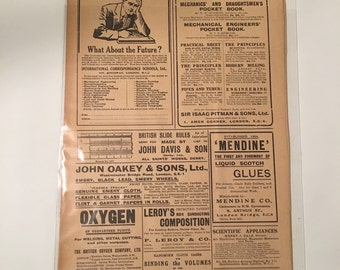 Vintage pages of the English Mechanic and World of Science - 1919 - FREE SHIPPING