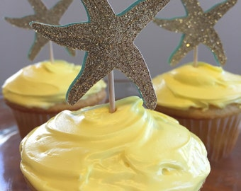 Starfish Cupcake Toppers