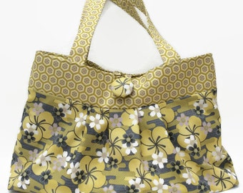 Tote bag, Pleated tote, Summer tote, Floral tote, handbag, Gifts for mum, Gifts for women, Beach bag, Shopping bag.