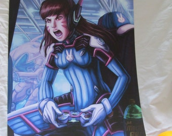Overwatch DVA print A3 size 12 x 16.5 inches