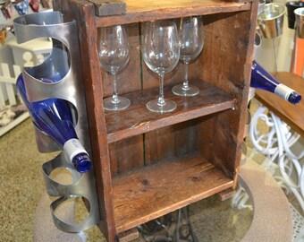 Rustic Industrial Wine Rack / Shelf