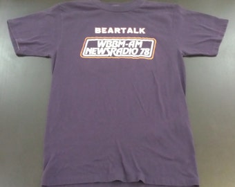 Vintage 50/50 Chicago Bears Beartalk super soft thin graphic tshirt size L