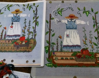 Garden Scare Crow hand painted Needlepoint canvas kit