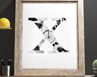 The Gentlmans Collection Print 'X'