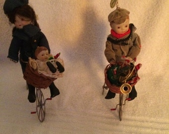 Two Vintage Christmas Tree Ornaments /Decoration
