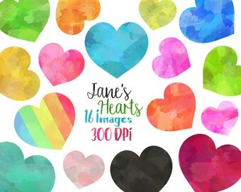 Rainbow Pastel Clipart Stitched Heart Graphics Cute Clip Art