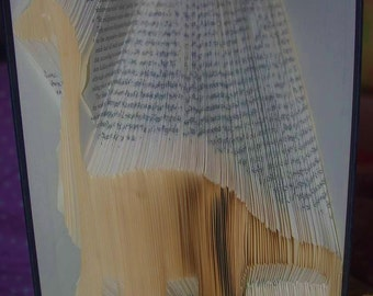 Long Neck Dinosaur Book Folding Pattern