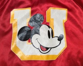 1980s MICKEY MOUSE UNIVERSITY Chalkline Vintage Made in U.S.A Jacket