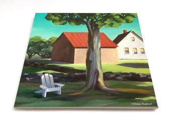 "July Afternoon - by Elaine Raphael 6"" Glossy Ceramic Tile"