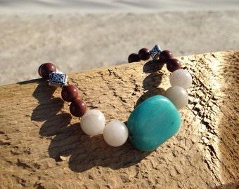 Native American inspired stretch bracelet