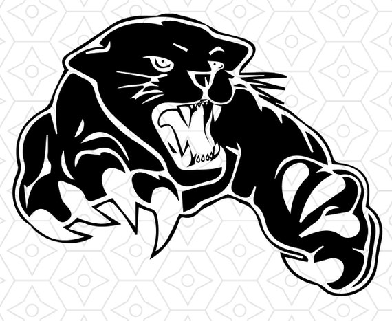 Panther Logo Design SVG DXF EPS Vector files for use with