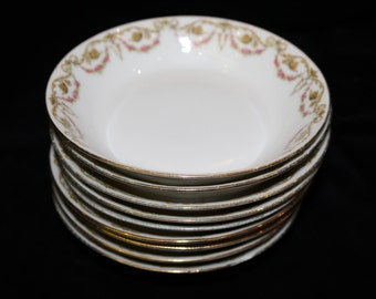 Set of 8 Limoges desset bowls