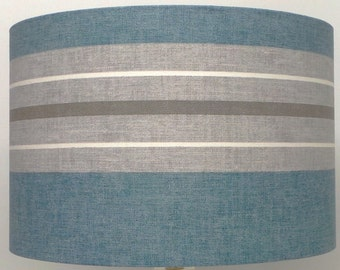Vintage Blue and Grey and white Stripe Design Table, Ceiling Pendant Lampshade various sizes