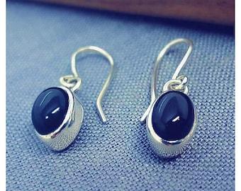 Black Onyx Drop Earring