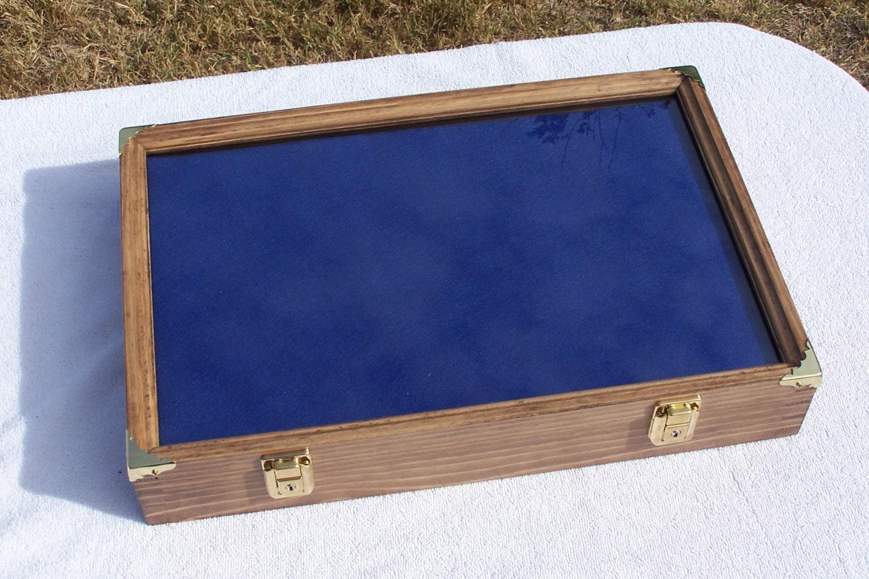 12x18x3 display case wall mount locking fossils knives gun. Black Bedroom Furniture Sets. Home Design Ideas