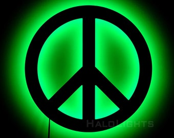 Peace Sign Lamp - Wall Hanging Peace Symbol Night Light