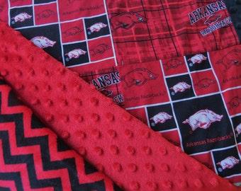 Arkansas Razorback Throw,Arkansas Razorback Quilt,Arkansas Razorback Blanket,Arkansas Razorback Minky,Arkansas Quilt,Arkansas Blanket
