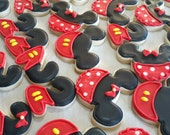 Mini mouse sugar cookies, Mickey mouse sugar cookies roayl icing,birthday party favor, Disney cookie, boy birthday,girl birthday,twin party