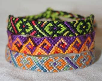 Small Friendship Bracelets Various Patterns and Colors