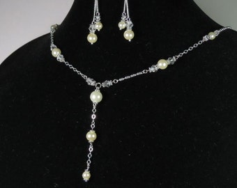Wedding Jewelry Set - Necklace And Earrings Set Bridesmaid Jewelry Maid of Honor Flower Girl Bridal Shower Gifts