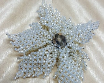 Cream Floral Brooch