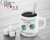 Distance Means So Little Coffee Mug Tea Cup Personalised Custom Long Distance Relationship Gift