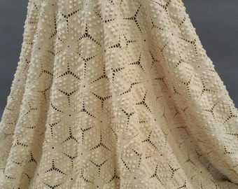 Magnificent Crocheted Bed Spread or Chuppah Wedding Canopy Foundation