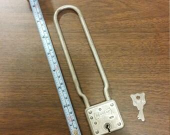 Vintage Master Lock 66 Bicycle Lock with Key