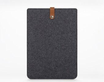 MacBook Air Case - MacBook Sleeve - MacBook Air 11 Leather Sleeve – Apple MacBook Air 11 Grey Felt Case