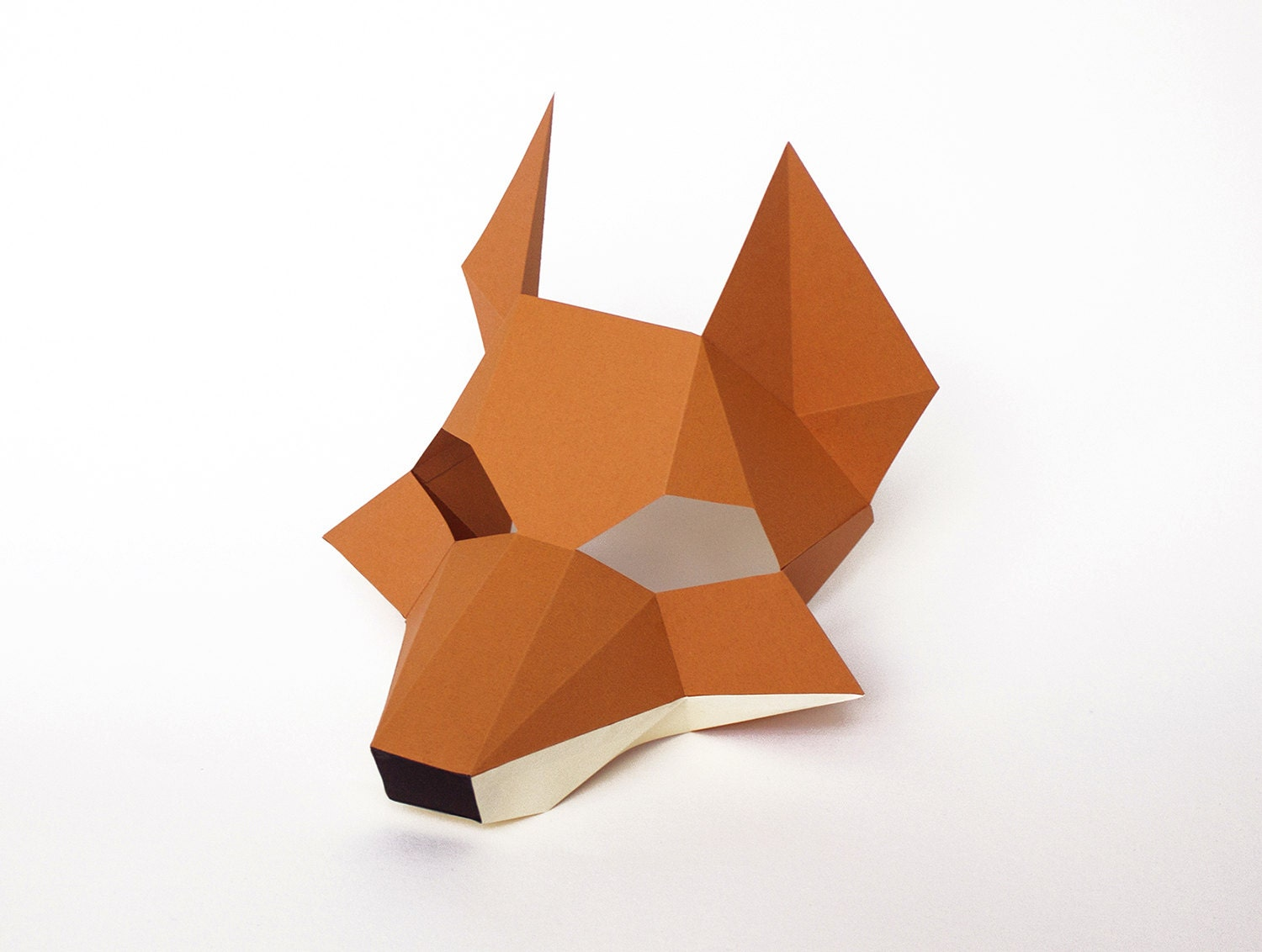 It is a photo of Sweet Printable Fox Mask