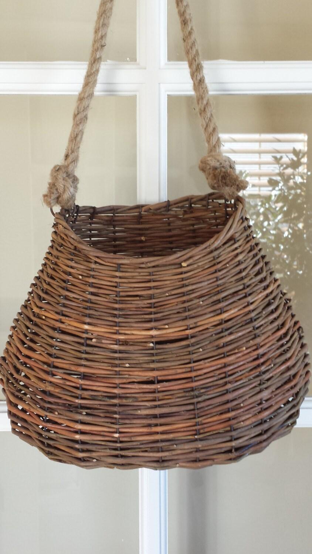 willow wall basket hanging wall basket cottage decor beach. Black Bedroom Furniture Sets. Home Design Ideas