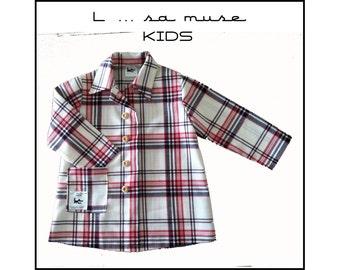 Fabric schoolboy checkered apron