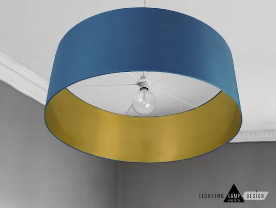Mid Modern Lamp Shade Navy Blue Ceiling Lamp Shade Drum