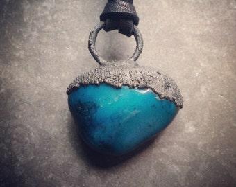 Jasper Necklace   Turquoise   Blackened Copper