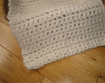 Photo Prop Hand Crochet Cream Posing Blanket, Basket Stuffer, Newborn Photography