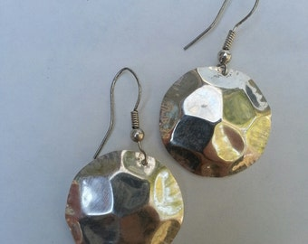 Hand Hammered Silver earrings