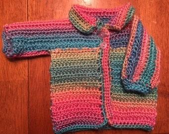Preemie/Newborn Baby Multi-Color Sweater