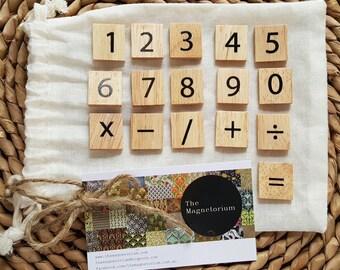 Scrabble Numbers Fridge Magnet Set - 42 Piece