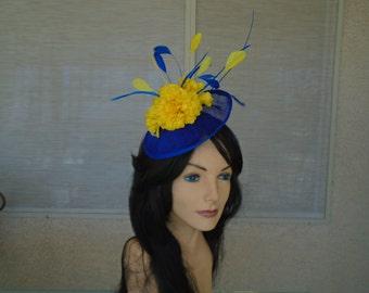 Royal Blue fascinator
