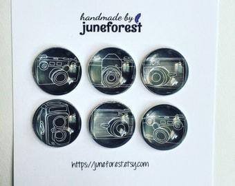 Camera fridge magnets, camera refrigerator magnets, camera decor, vintage camera decor, stocking stuffer