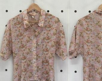 90's floral blouse