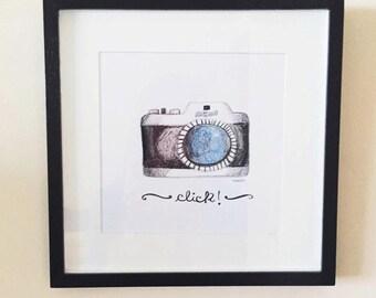 Camera art poster, Camera prints, Photographer gift, Camera decor