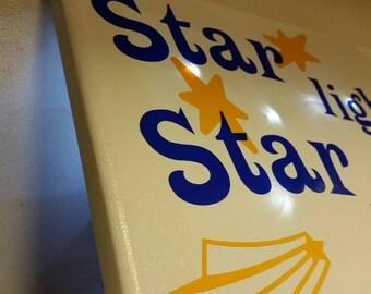 Star light star bright night light wall hanging canvas
